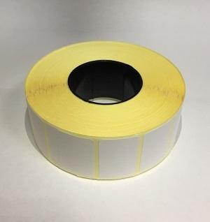 Термотрансферные этикетки 30 мм х 20 мм, полуглянцевая, (цена за рулон 2000 шт.)
