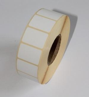 Термотрансферные этикетки 30 мм х 15 мм, полуглянцевая, (цена за 1 тыс. шт.)