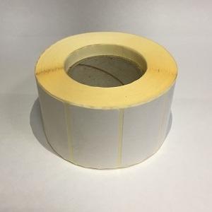 Термотрансферные этикетки 43 мм х 25 мм, полуглянцевая, (цена за рулон 1000 шт.)