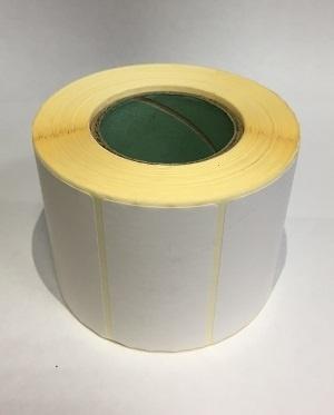 Термотрансферные этикетки 58 мм х 30мм, полуглянцевая, (цена за рулон 900 шт.)