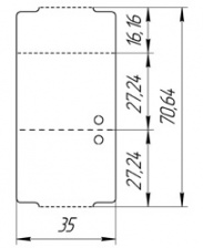 Бирка-книжка (ярлык) 35 x 70 (1000 шт.) пластиковая, 180 мкм
