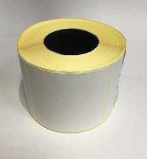 Термотрансферные этикетки 58 мм х 60 мм, полуглянцевая,(цена за рулон 450 шт.)