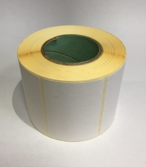Термотрансферные этикетки 58 мм х 40 мм, полуглянцевая, (цена за рулон 700 шт.)