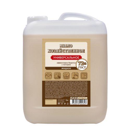 Жидкое мыло «Хозяйственное» универсальное MANUFACTOR, ПВХ, 5л