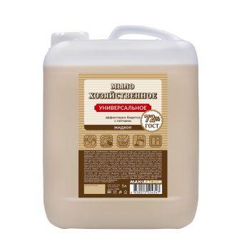Жидкое мыло «Хозяйственное» универсальное MANUFACTOR, ПВХ, 10л